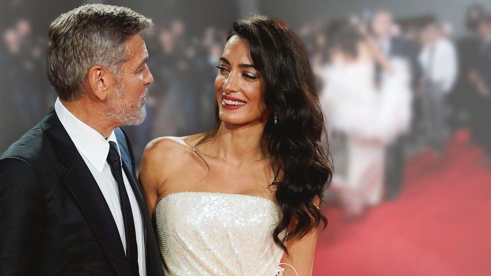 Amal Clooney - Huch! Hier wird ihr glamouröses Abendkleid zur Stolperfalle