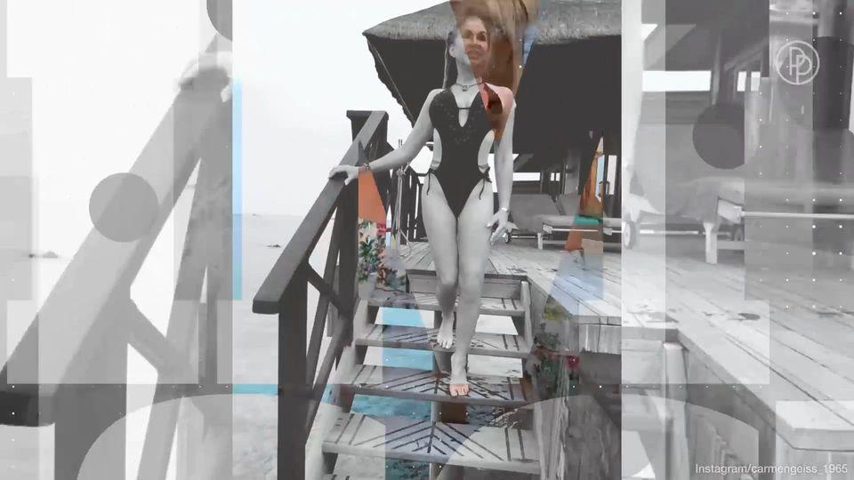 Carmen geiss badeanzug