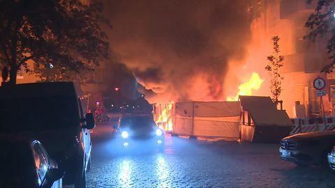 Berlin: Feuer bei ehemals besetztem Haus «Liebig 34»