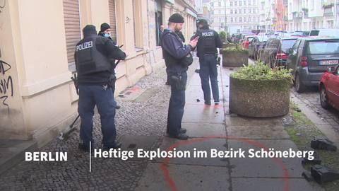 Explosion in Berlin-Schöneberg – ein Mensch verletzt