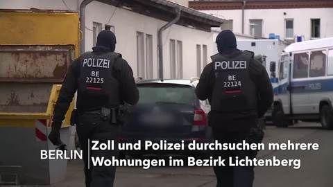 Razzien im Berliner Rauschgiftmilieu – 400 Beamte im Einsatz