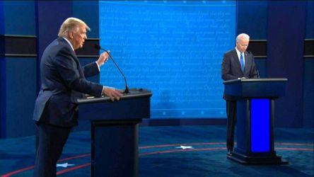 Donald Trump und Joe Biden beim zweiten TV-Duell