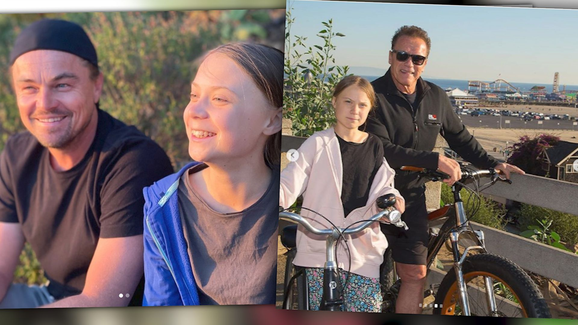 Auf dem Radel mit Arnold Schwarzenegger: Greta erobert Hollywood