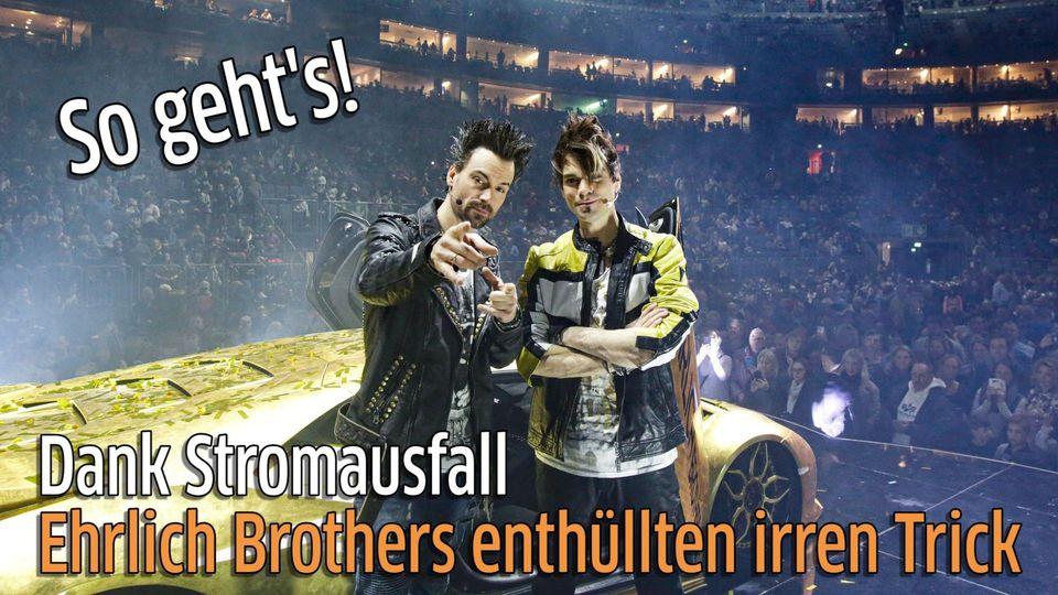 Ehrlich Brothers enthüllten Handtrick in Kölner Lanxess-Arena