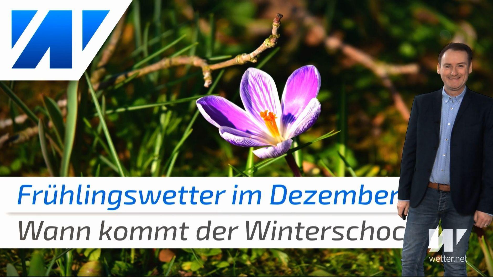 Winter-Schock nach Dezember-Frühling? Heute erneut bis 17 Grad warm!