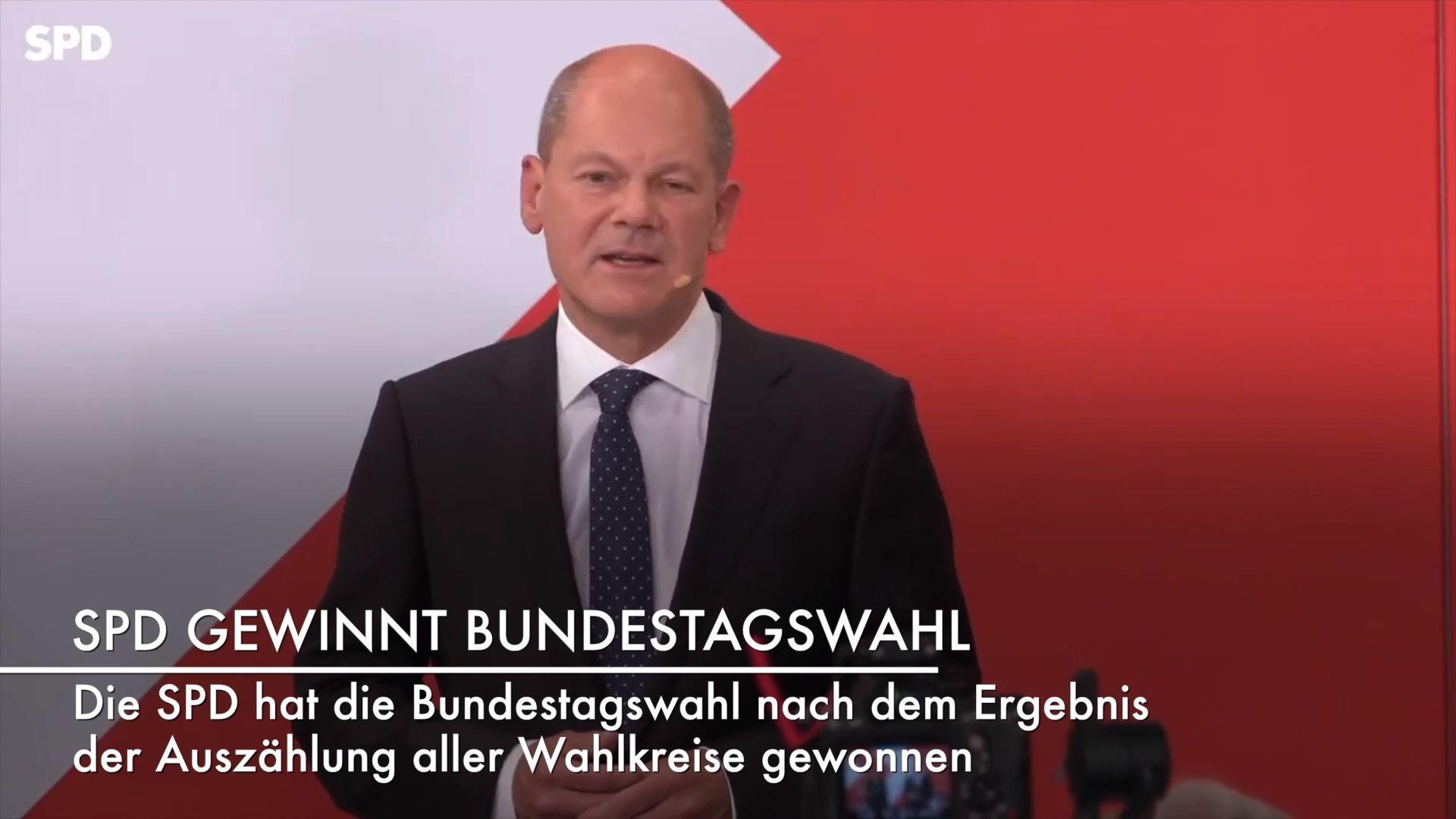 Vorläufiges Endergebnis: SPD gewinnt Bundestagswahl