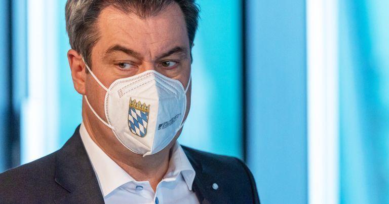 Söder will in Bayern an Maskenpflicht festhalten
