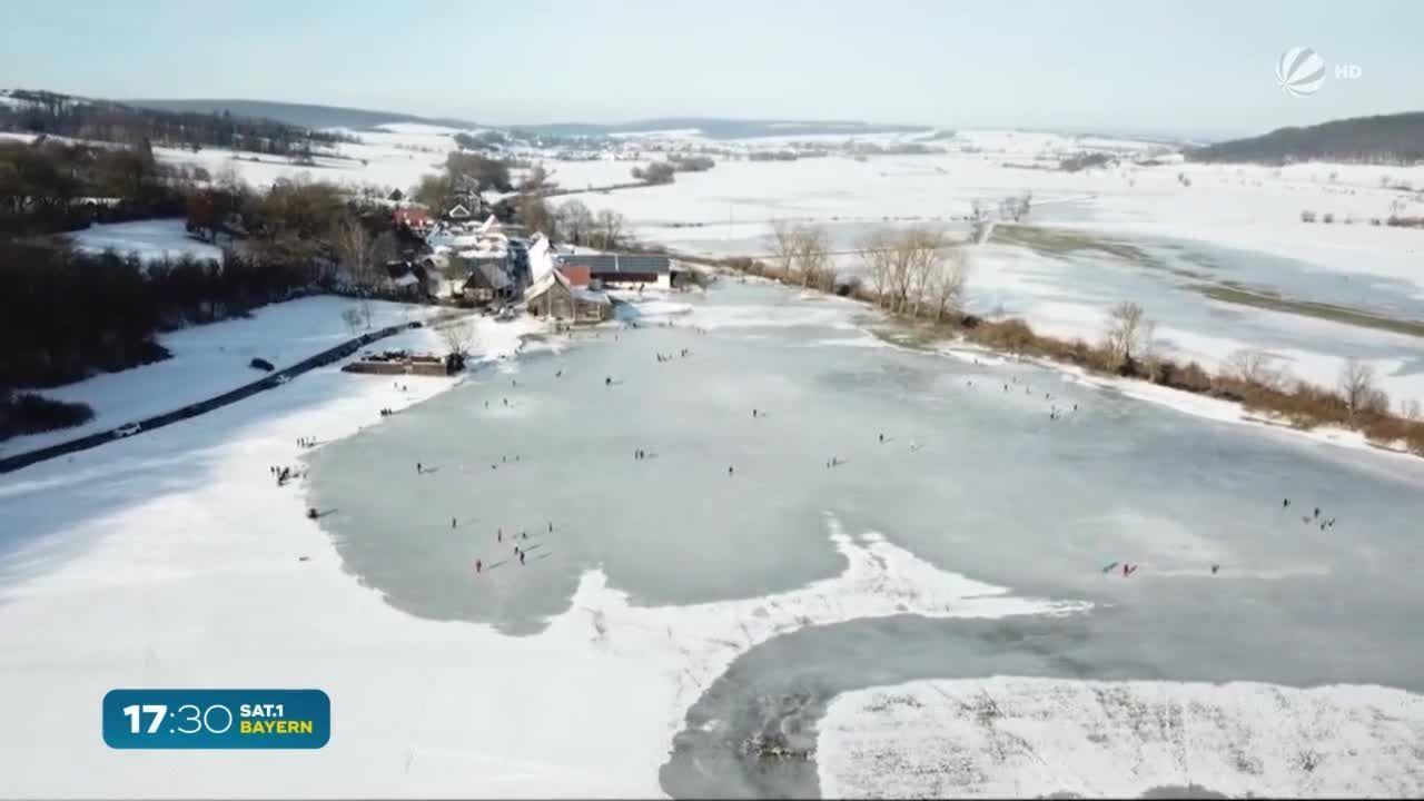 Nach Eiszeit in Bayern: Wasserwacht warnt vor Gefahren